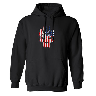 SEAL Team Bravo American Flag Fleece Hooded Sweatshirt