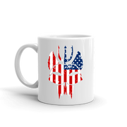 SEAL Team Bravo American Flag White Mug