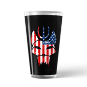 SEAL Team Bravo American Flag 17 oz Pint Glass