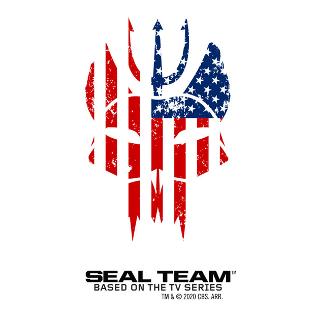 SEAL Team Bravo American Flag 20 oz Screw Top Water Bottle with Straw | Official CBS Entertainment Store