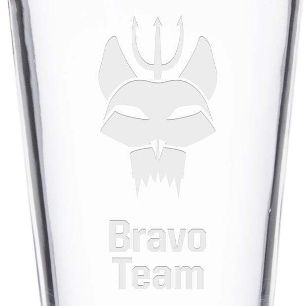 SEAL Team Bravo Team Laser Engraved Pint Glass | Official CBS Entertainment Store
