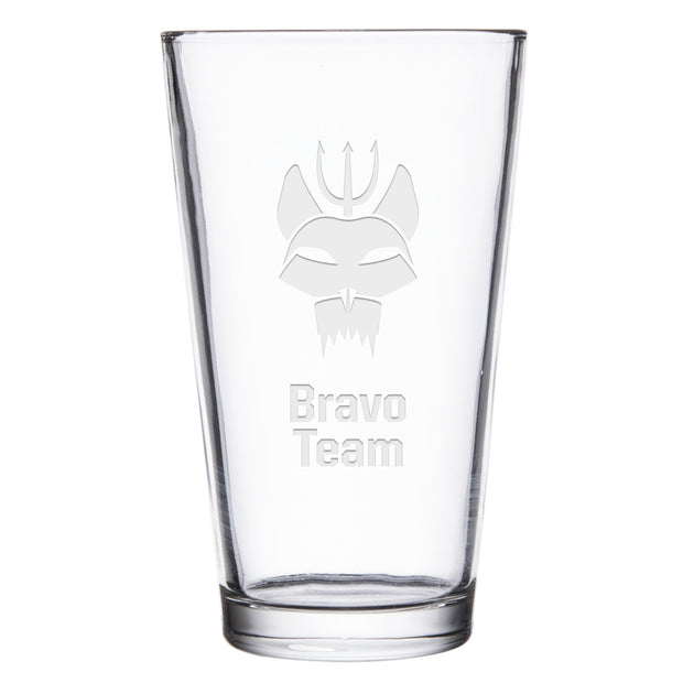 SEAL Team Bravo Team Laser Engraved Pint Glass
