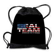 SEAL Team American Flag Logo Drawstring Bag | Official CBS Entertainment Store
