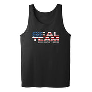 SEAL Team American Flag Logo Adult Tank Top