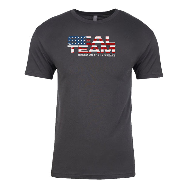 SEAL Team American Flag Logo Adult Short Sleeve T-Shirt | Official CBS Entertainment Store