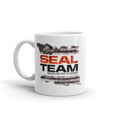 SEAL Team Logo Flag White Mug | Official CBS Entertainment Store