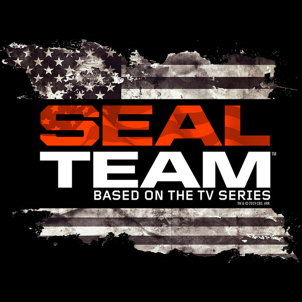 SEAL Team Logo Flag Sherpa Blanket | Official CBS Entertainment Store