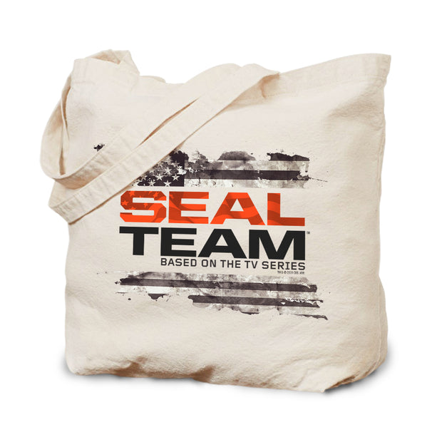 SEAL Team Logo Flag Canvas Tote | Official CBS Entertainment Store