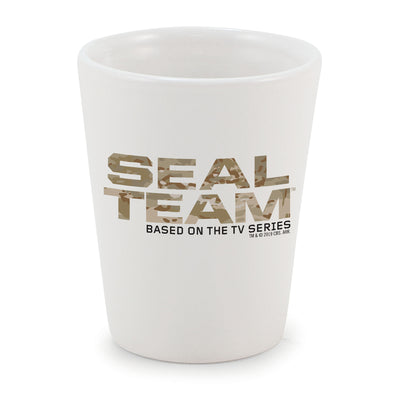 SEAL Team Camouflage Logo Ceramic Shot Glass | Official CBS Entertainment Store