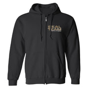 SEAL Team Camoflauge Logo Fleece Zip-Up Hooded Sweatshirt