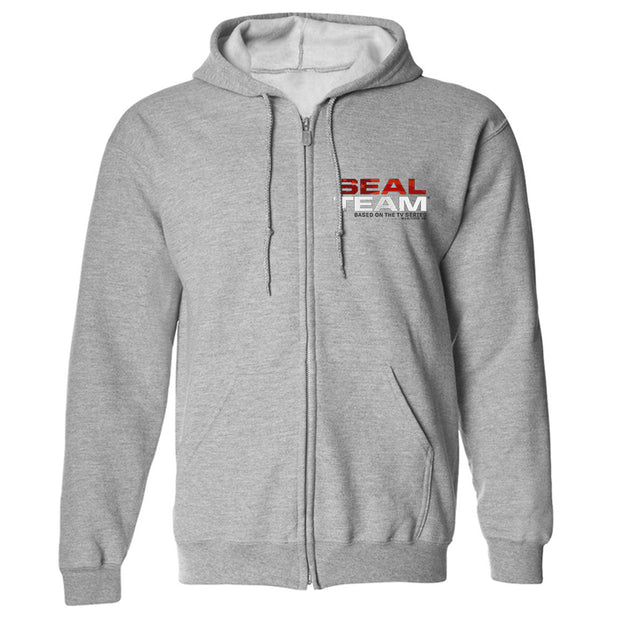 SEAL Team Stacked Logo Fleece Zip-Up Hooded Sweatshirt | Official CBS Entertainment Store