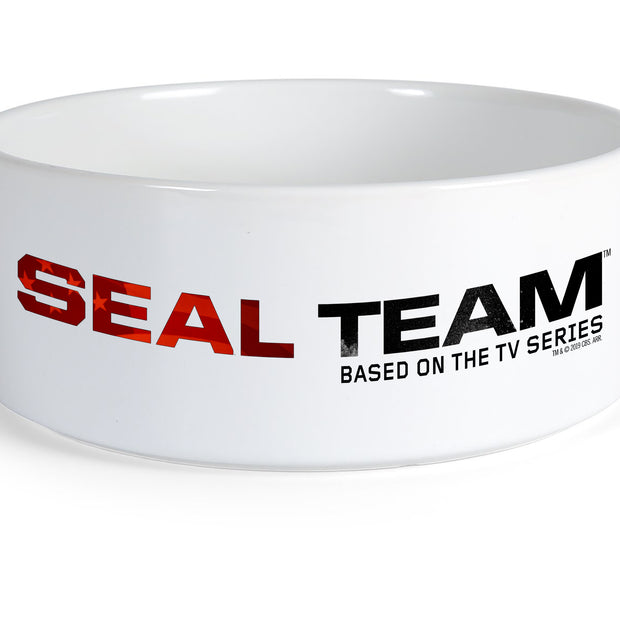 SEAL Team Stacked Logo Ceramic Dog Bowl | Official CBS Entertainment Store