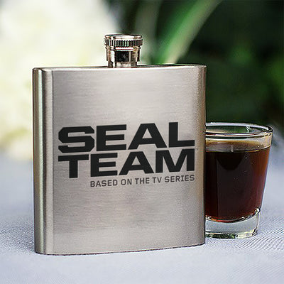 SEAL Team Logo Stainless Steel Flask | Official CBS Entertainment Store