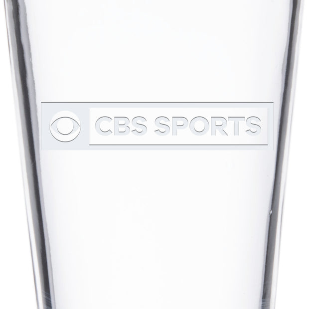 CBS Sports Logo Laser Engraved Pilsner Glass | Official CBS Entertainment Store