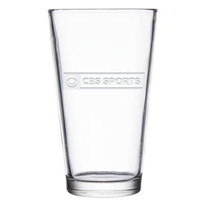 CBS Sports Logo Laser Engraved Pilsner Glass