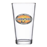 Survivor Outwit, Outplay, Outlast Logo Pint Glass | Official CBS Entertainment Store