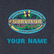 Survivor Season 39 Island of the Idols Logo Personalized Men's Tri-Blend T-Shirt