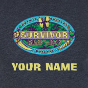 Survivor Season 39 Island of the Idols Logo Personalized Women's Tri-Blend T-Shirt | Official CBS Entertainment Store
