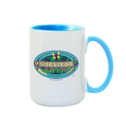 Survivor Season 39 Island of the Idols Logo Personalized 15 oz Two-Tone Mug | Official CBS Entertainment Store
