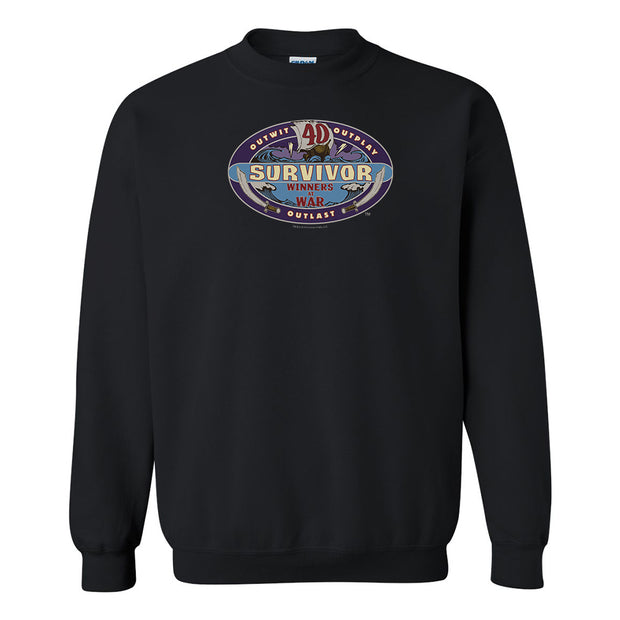 Survivor Season 40 Winners at War Logo Fleece Crewneck Sweatshirt