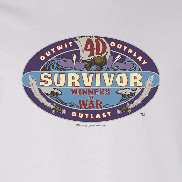 Survivor Season 40 Winners at War Logo Adult Long Sleeve T-Shirt