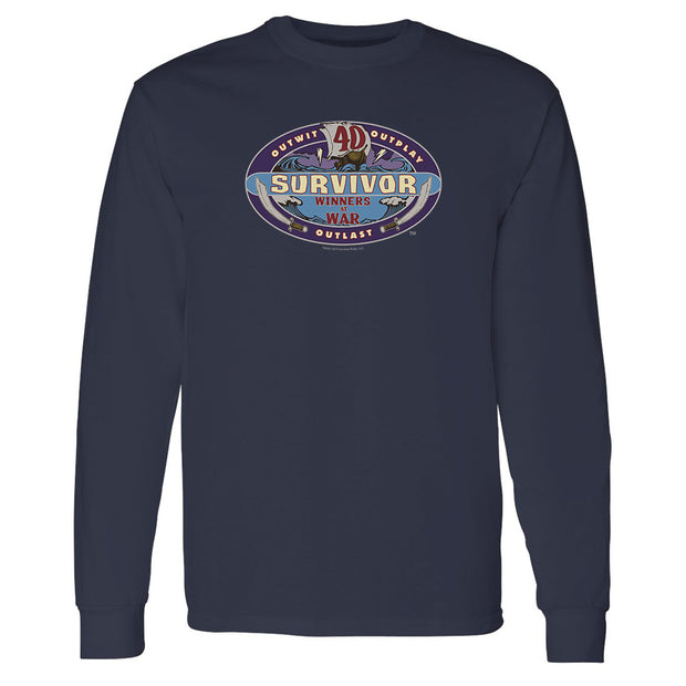 Survivor Season 40 Winners at War Logo Adult Long Sleeve T-Shirt | Official CBS Entertainment Store