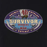 Survivor Season 40 Winners at War Logo Adult Short Sleeve T-Shirt