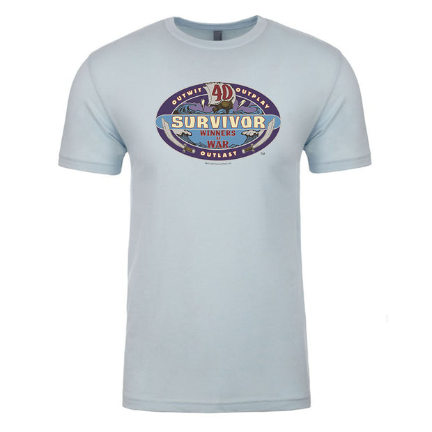 Survivor Season 40 Winners at War Logo Adult Short Sleeve T-Shirt | Official CBS Entertainment Store