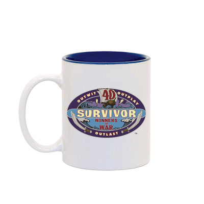 Survivor Season 40 Winners at War Logo Two-Tone Mug