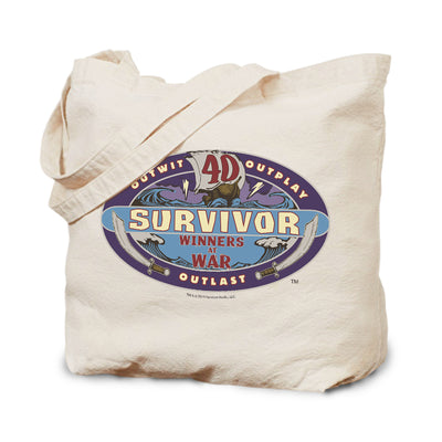 Survivor Season 40 Winners at War Logo Canvas Tote