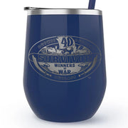 Survivor Season 40 Winners at War Logo 12 oz Stainless Steel Wine Tumbler with Straw