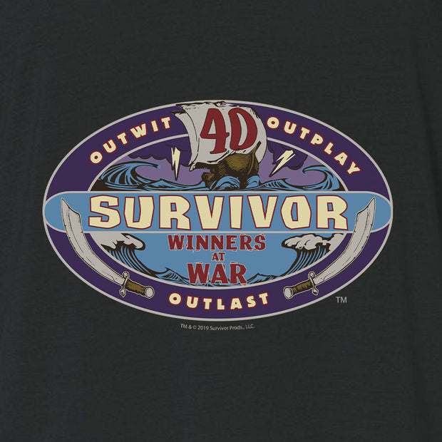 Survivor Season 40 Winners at War Logo Women's Relaxed V-Neck T-Shirt