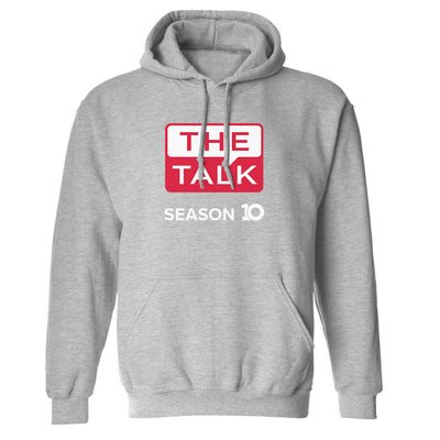 The Talk Season 10 Anniversary Logo Fleece Hooded Sweatshirt
