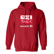 The Talk Season 10 Anniversary Logo Fleece Hooded Sweatshirt | Official CBS Entertainment Store