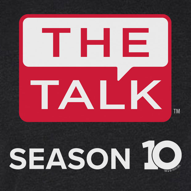 The Talk Season 10 Anniversary Left Chest Logo Men's Tri-Blend T-Shirt