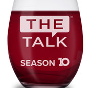 The Talk Season 10 Anniversary Logo Laser Engraved Stemless Wine Glass | Official CBS Entertainment Store