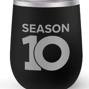 The Talk Season 10 Anniversary Logo 12 oz Stainless Steel Wine Tumbler with Straw