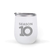 The Talk Season 10 Anniversary Logo 12 oz Stainless Steel Wine Tumbler with Straw | Official CBS Entertainment Store
