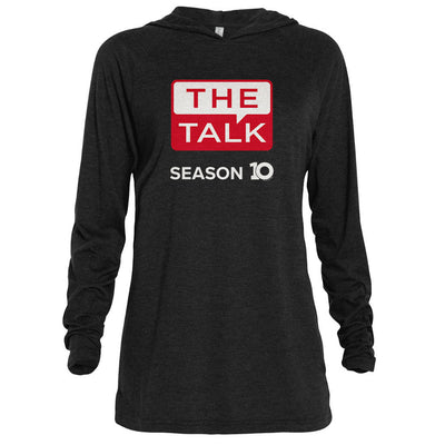 The Talk Season 10 Anniversary Logo Adult Tri-Blend Raglan Hoodie