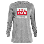 The Talk Season 10 Anniversary Logo Adult Tri-Blend Raglan Hoodie | Official CBS Entertainment Store