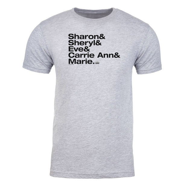 The Talk Host Names Adult Short Sleeve T-Shirt | Official CBS Entertainment Store