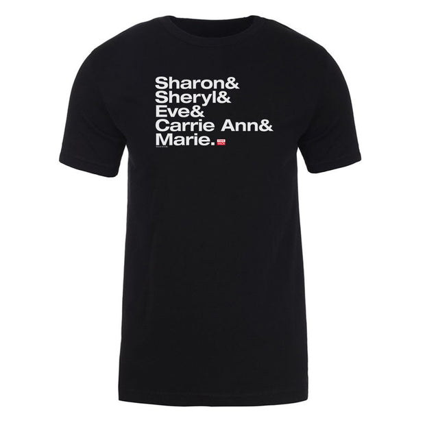 The Talk Host Names Adult Short Sleeve T-Shirt