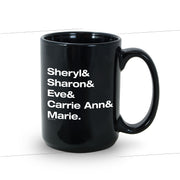 The Talk Host Names Black Mug | Official CBS Entertainment Store