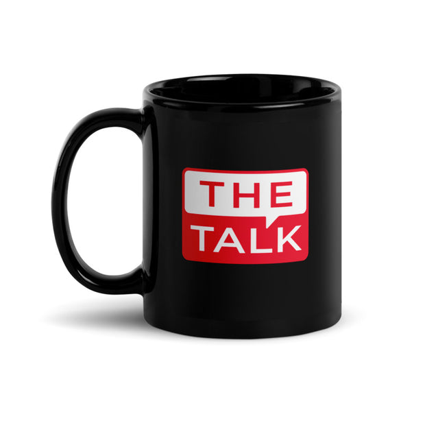 The Talk Host Names Black Mug