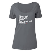 The Talk Host Names Women's Scoop Neck T-Shirt
