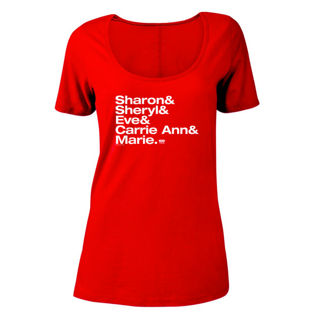 The Talk Host Names Women's Scoop Neck T-Shirt | Official CBS Entertainment Store