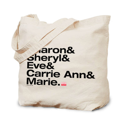 The Talk Host Names Canvas Tote