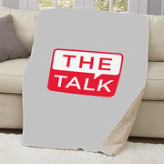 The Talk Logo Sherpa Blanket | Official CBS Entertainment Store