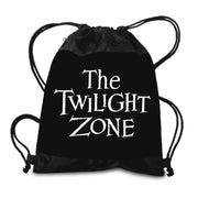 The Twilight Zone Logo Drawstring Bag