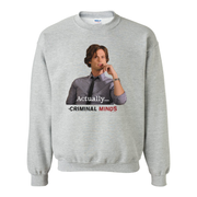 Criminal Minds Spencer Reid Actually... Fleece Crewneck Sweatshirt | Official CBS Entertainment Store